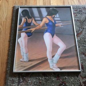 """Other - Large Framed Ballet Dancer Artwork 16x20"""""""
